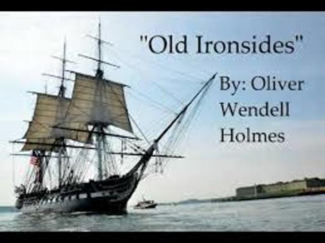 """Oliver Wendell Holmes publishes """"Old Ironsides"""""""