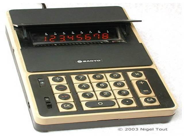 Calculadora electrónica de bolsillo.