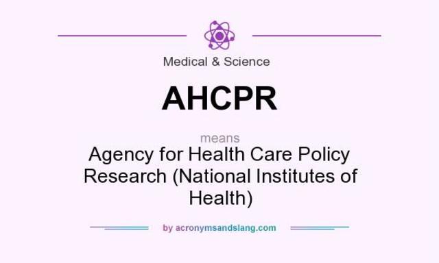 La AHCPR