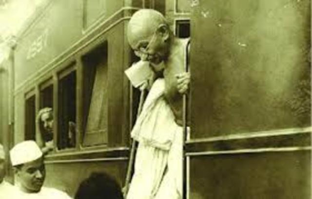 Gandhi Was Thrown off a Train