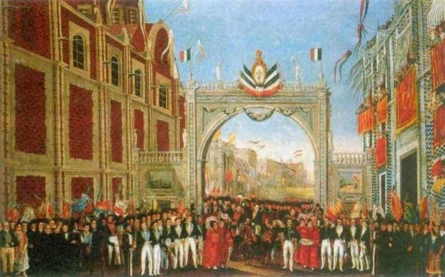 Agustín de Iturbide sale de la ciudad de México para combatir a Guerrero