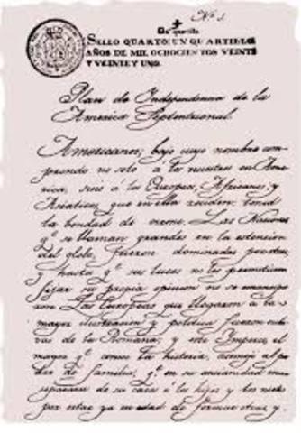 Iturbide proclama el plan de Iguala