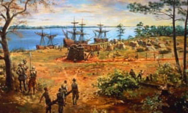 The colony of Jamestown, Virginia