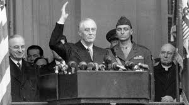 Franklin D. Roosevelt Inaugurated