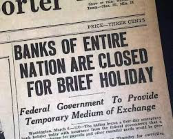 FDR Declares Bank Holiday