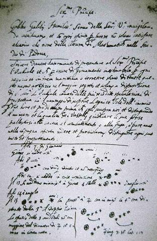 Galileo  Galilei: Sidereus Nuncius Telescopic observations