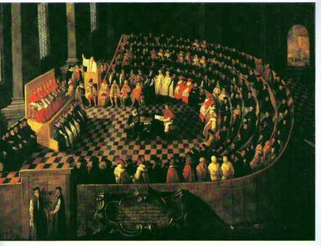 Council of Trent. Counter-reformation begins.