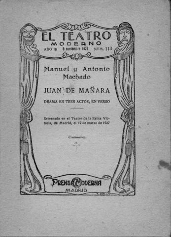 """Estrena """"Juan de Mañara"""""""