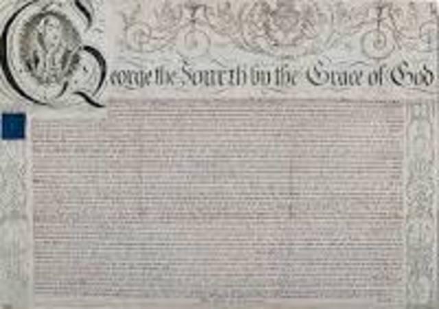 Queen Elizabeth gave English Royal Charter