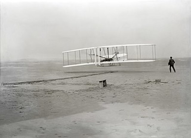 First flight of the Wright Flyer I, December 17, 1903
