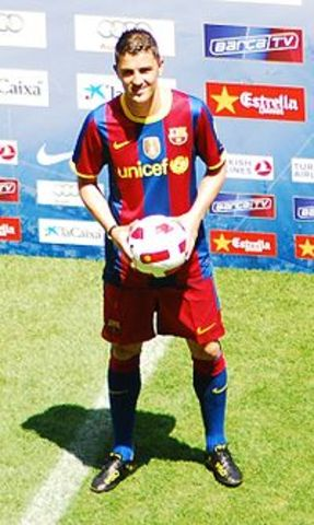 he started to play with FCBarcelona
