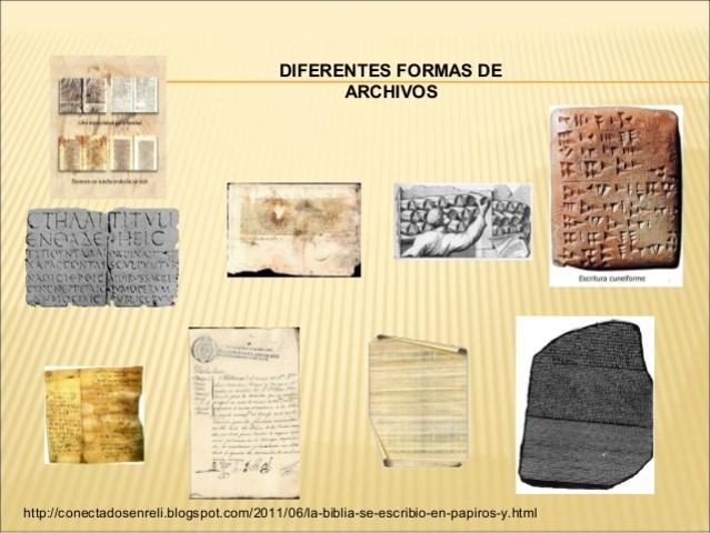LOS ARCHIVOS Y SU EVOLUCIÓN