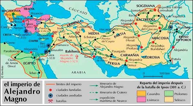 Alejandro Magno: Imperio