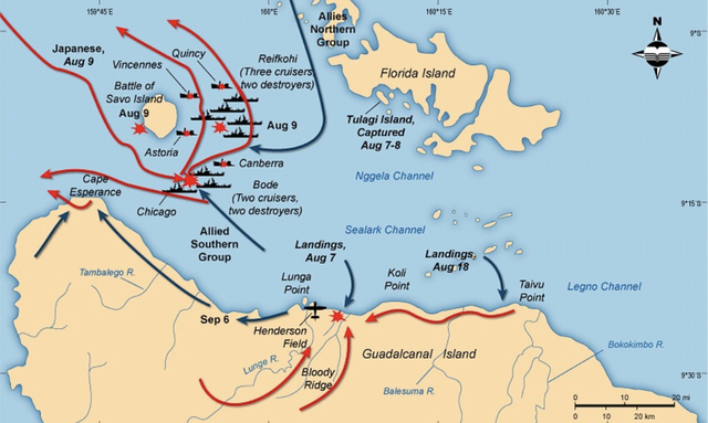 Image result for the invasion of guadalcanal OPERATION WATCH TOWER