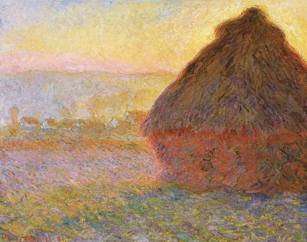 Haystacks, (sunset)