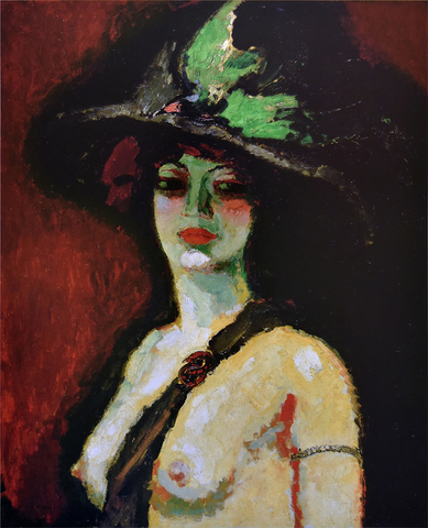 Woman with Large Hat