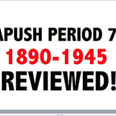 APUSH Period 7 - Part 1 timeline