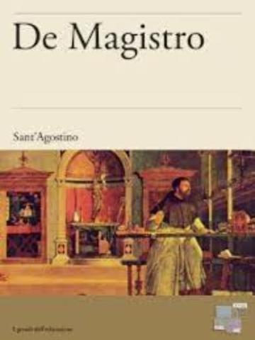 """La obra """"De Magistro""""."""