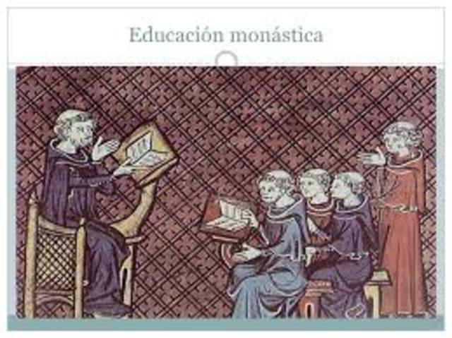 Primeras escuelas monásticas.