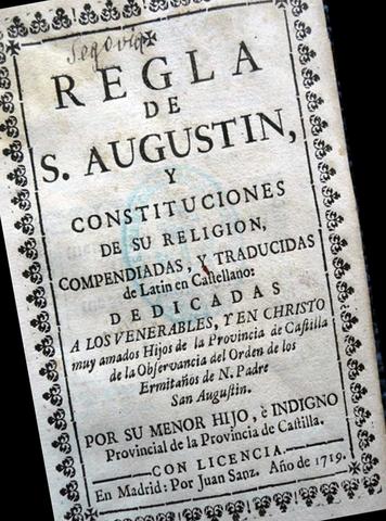 San Agustín y el monaquismo.