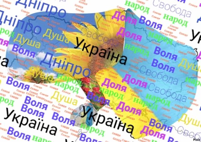 Creating Sutory presentation about Ukrainian Anthem,making  word cLoud