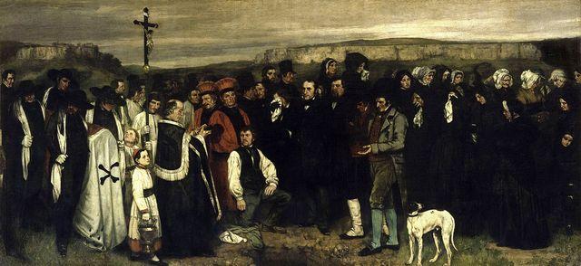 Enterrament a Ornans - Courbet
