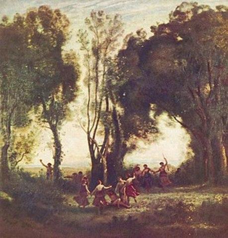 La dansa de les ninfes -  Camille Corot