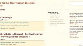 My New Teacher Chronicle timeline