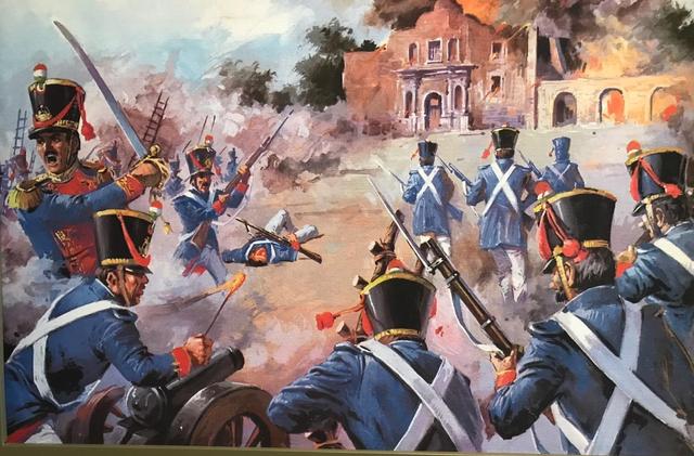 Santa Anna exitosamente atacó el Fuerte de El Álamo