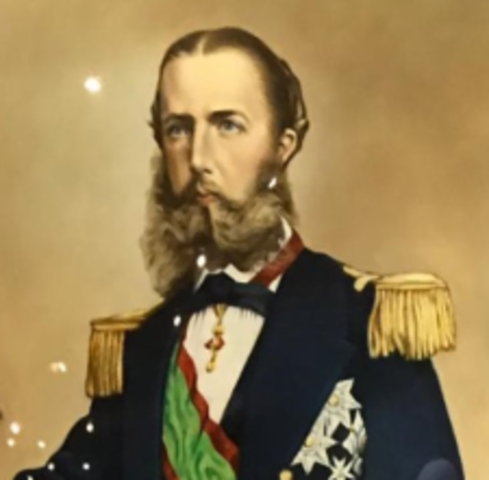 Maximiliano de Habsburgo y Carlota aceptaron la corona del imperio mexicano y fueron coronados con la firma del Tratado de Miramar y Inició su Imperio