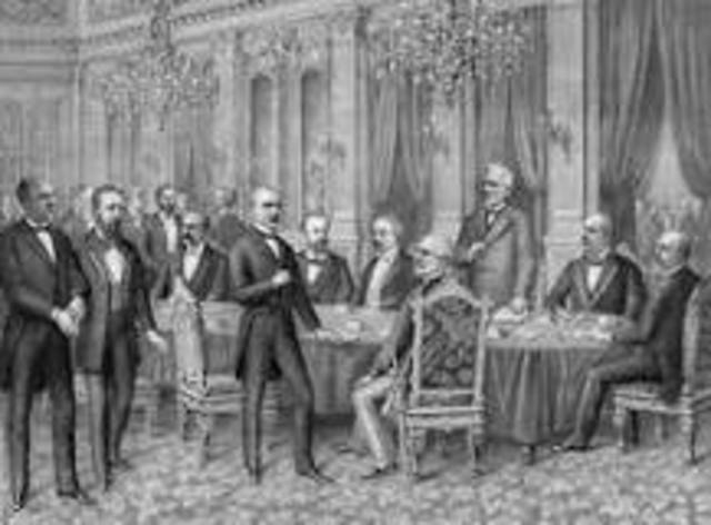The Treaty of Paris is signed by representatives from the U.S. and Spain.