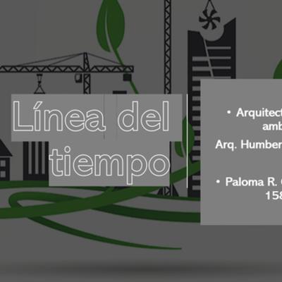 Linea del tiempo. Arquitectura y Medio Ambiente timeline