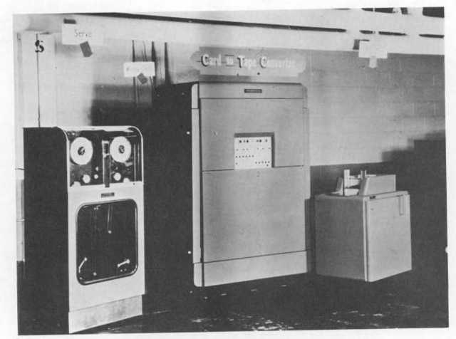 Primer convertidor de cinta a tarjeta perforada