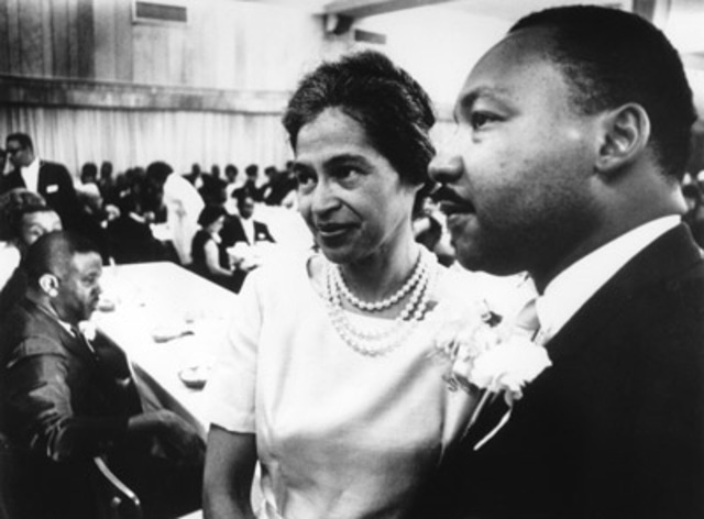 Rosa Parks joins in the March on Washington
