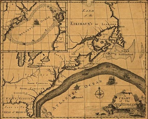 Benjamin Franklin, Discovered the Gulf Stream