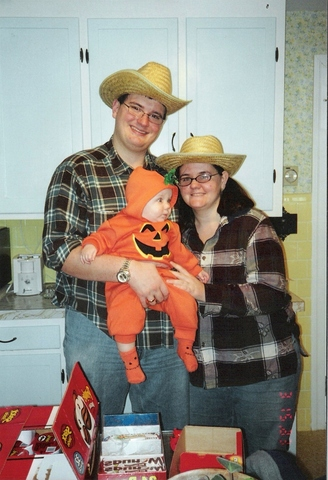 His first Halloween