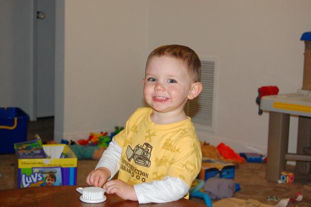 His First Haircut