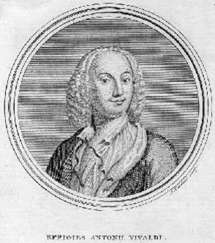 Vivaldi entered in a seminary