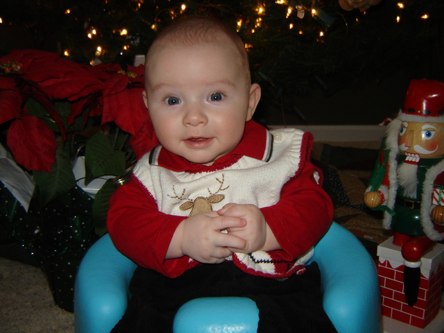 4 Months Old - First Christmas