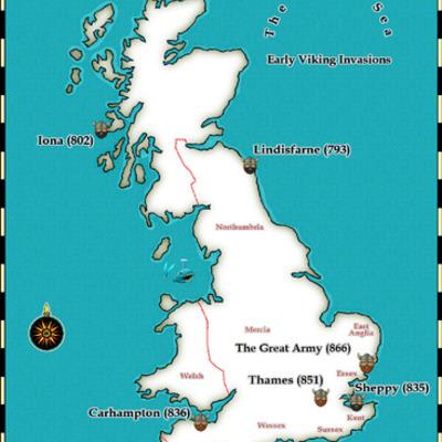 Vikings in U.K. timeline