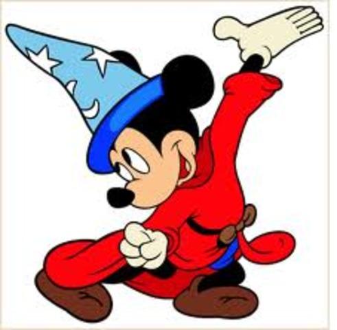 "Mickey appears in ""Fantasia"""