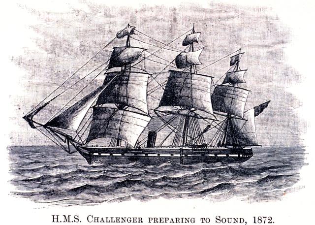 HMS Challenger Sails