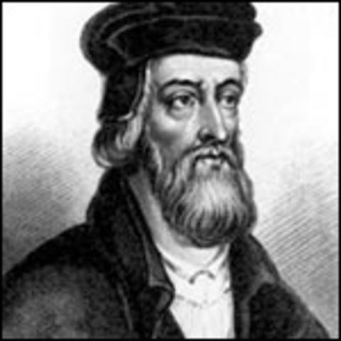 John Wycliffe translates bible into venacular English