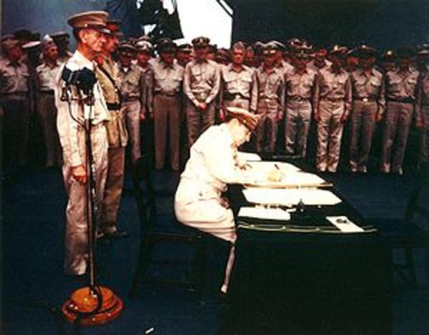Japan surrendered