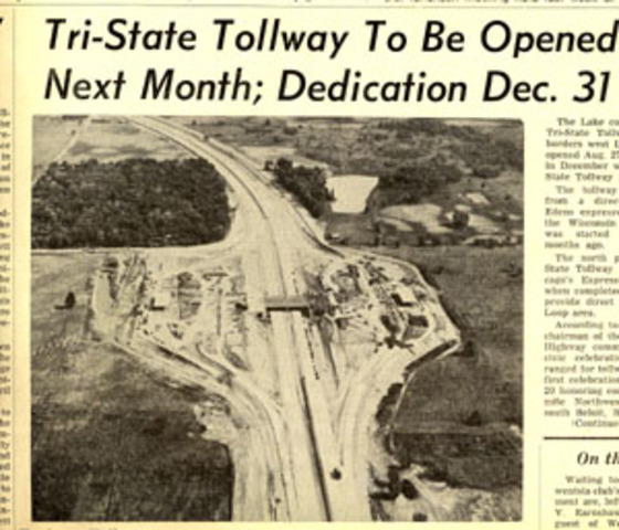 Tri-state Tollway opens