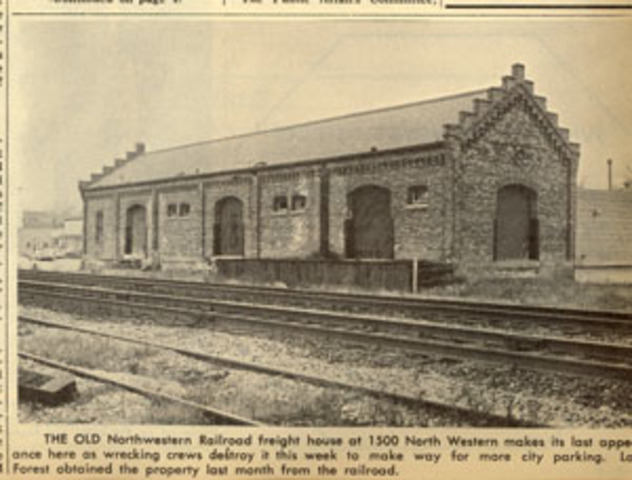 Northwestern Railroad freight house torn down