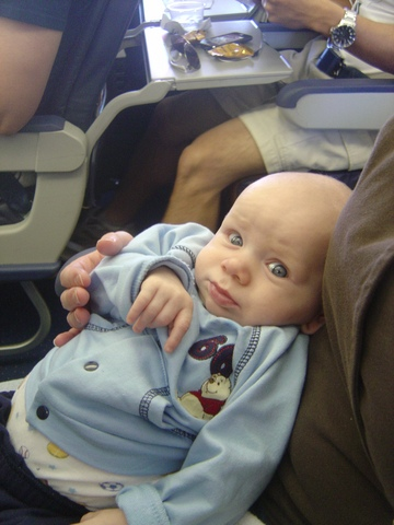 Tommy's first airplane ride!