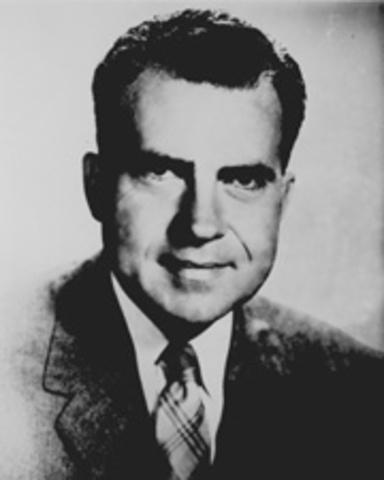 Senator Richard M. Nixon visits Women's Republican Club