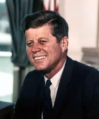 Senator John F. Kennedy visits