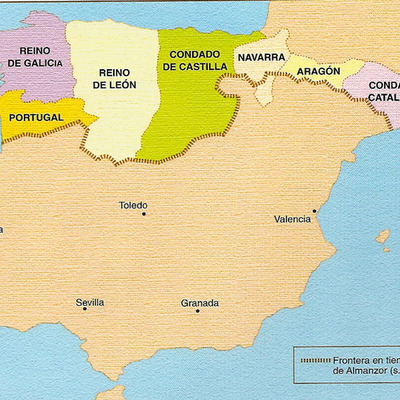 Evolución del reino astur-leonés (siglos VIII-XI)  (Rodrigo) timeline